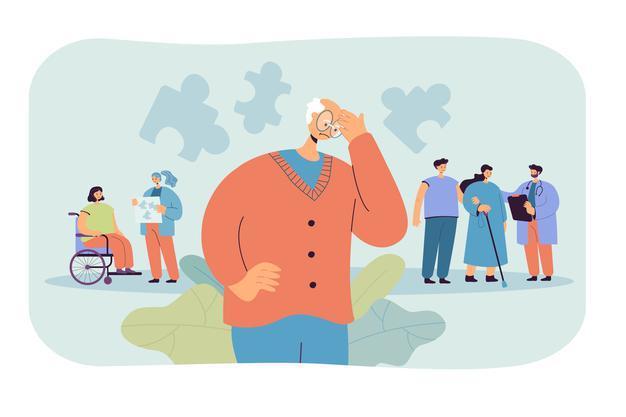 деменция, когнитивные тренинги для пожилых, дом престарелых, нейроны